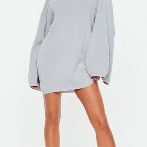 Missguided Extreme wide Sleeve Sweater Dress